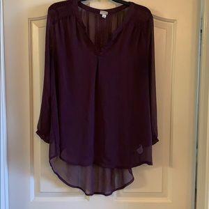 Burgundy/ purple sheer Tunic